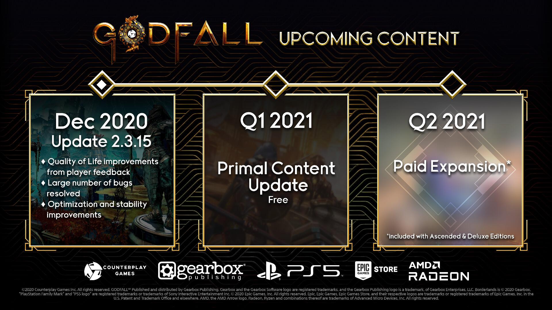 《众神陨落》公布路线图 将有免费内容和付费DLC